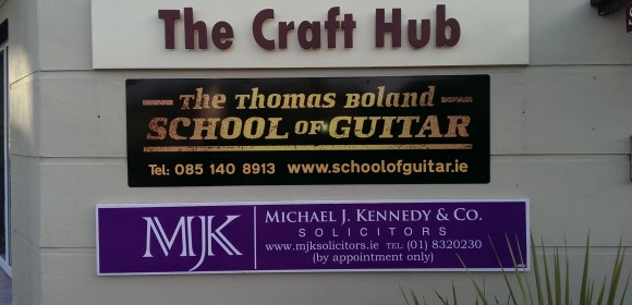 New sign The Thomas Boland School Of Guitar Donabate Business Centre